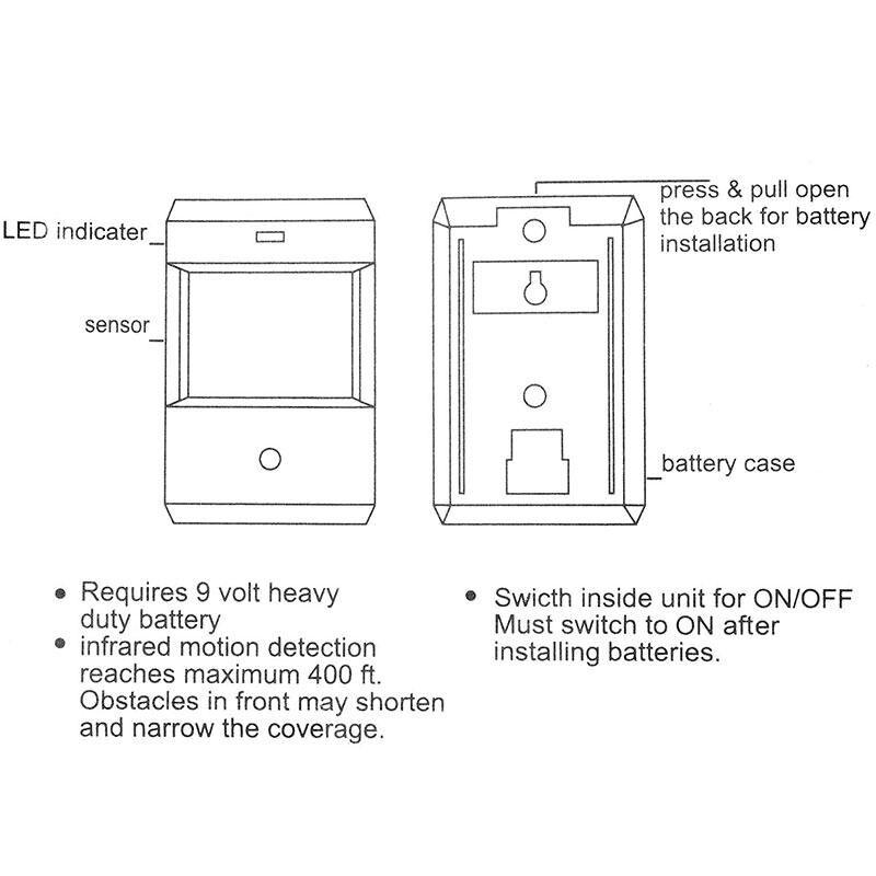 Wireless Infrared Sensor Motion Detector Shop Entry Door Bell Welcome Chime ks v2 welcom chime bell sensor