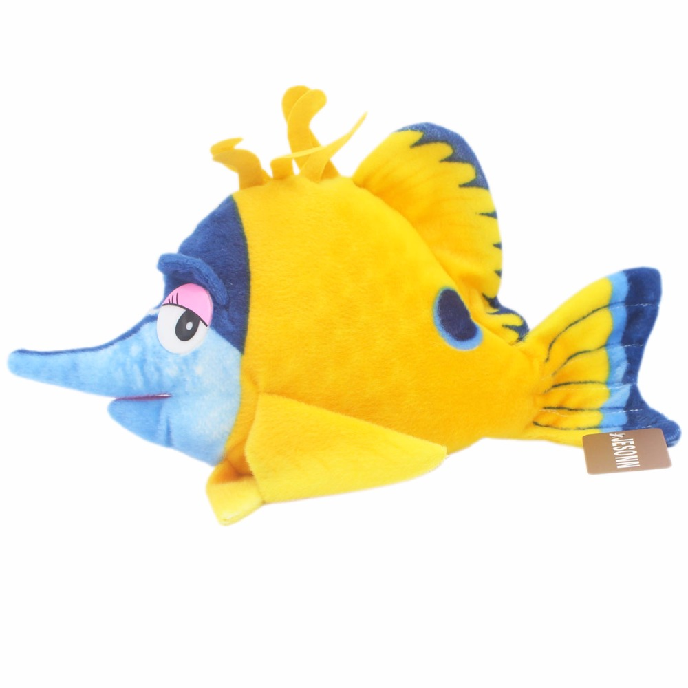 JESONN Realistic Stuffed Marine Djur Plush Yellow Croaker Leksaker för barns födelsedagspresenter, 40 CM