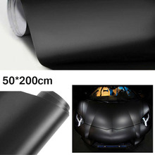 цена на 1* Black Brushed Flat Matte Vinyl Wrap Film Auto Sticker Air Release Decal Set