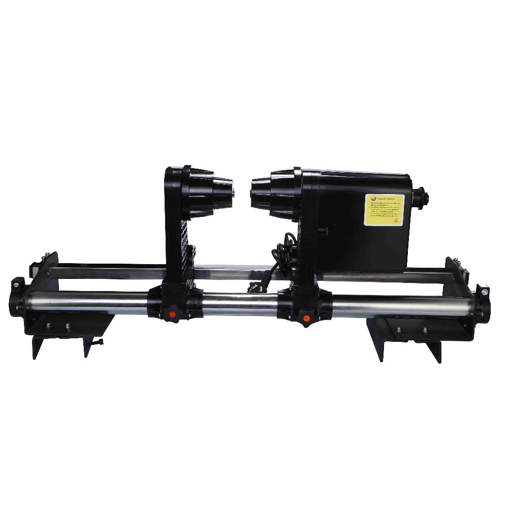trabeated style take up system with two motor for Epson Canon HP Roland Mimaki Mutoh Seiko and other large format printer 64 automatic media take up reel system for mutoh mimaki roland etc printer