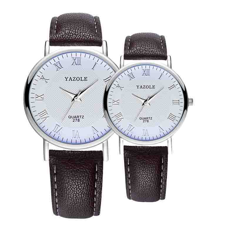 Ladies Watch Luxury Leather Casual Couple Watches Blue Simple Quartz Wristwatches Business Watches Free Shipping Sale(China)