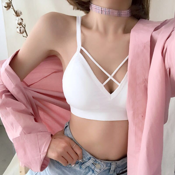 New Solid Color One-Piece Bra Hollow Out Push Up Bra 1