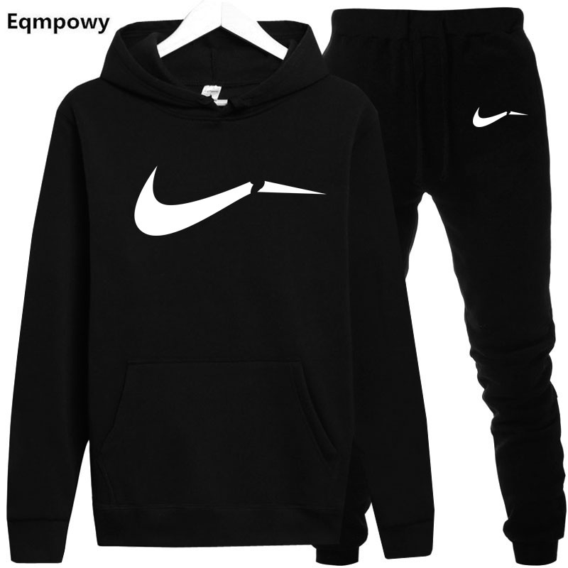 Winter Autumn Hoodie Sweater Jacket+ Joggers Sweatpants Man Printing Fits Sportwear Tracksuit Struggle Colour