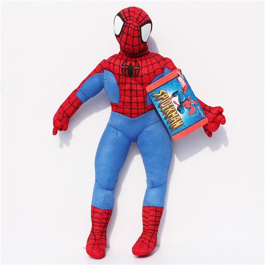 "Free Shipping 12""30cm American Movie Anime Super Hero Spiderman Plush Stuffed Toy Soft PP Cotton"