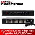 HD Video Splitter/Distribuidor 16 Puntos 32 de Salida, Soporte 720 P/1080 P AHD, HDCVI, HDTVI Cámara Bnc de entrada y salida de Distancia Máxima de 300-600 M