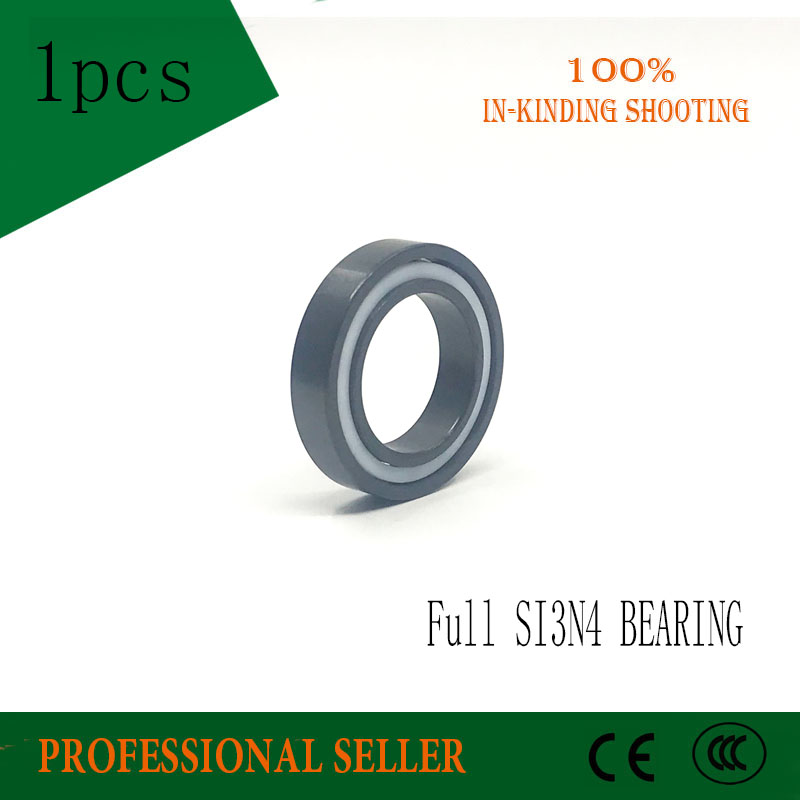 Free shipping 6902 full SI3N4 ceramic deep groove ball bearing 15x28x7mm 61902 SI3N4 цена и фото