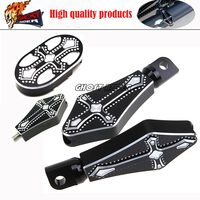Motorcycle CNC Billet Aluminum Brake Pedal Pad Cover Footrests Foot Pegs Shifter Peg Fits For Harley
