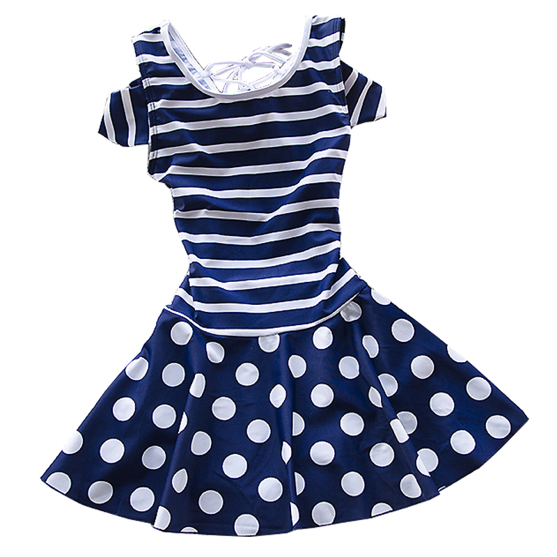05e3eb3939 Girls Swimwear Toddlers Girls Swimsuits Polka Dot Striped Princess Skirt  Swimsuit Sunscreen Bathing Suits for Teenagers