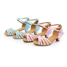 New Arrival Latin Dance Shoes Low Heels Salsa Tango Ballroom Dancing Shoes For Women kids Children Girls
