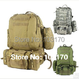 Quality MOLLE system 60L Tactical Backpack Camping Backpack Miltary All in One Backpack Hydration Backpack