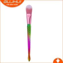 GUJHUI 1pcs Mermaid Color Make Up Eyebrow Eyeliner Blush Blending Contour Foundation Cosmetic Beauty Makeup Brush Tools Smrp