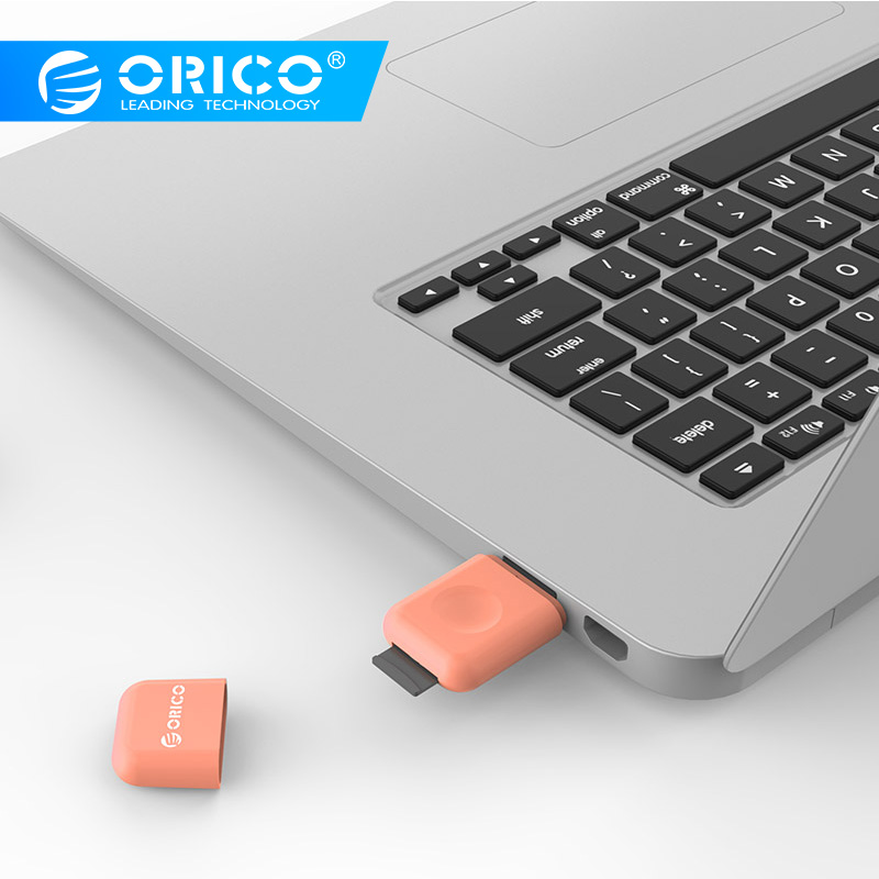 ORICO CRS12 USB3.0 Dual Card Reader For TF Card Mini Multifunctional Design - Light Pink