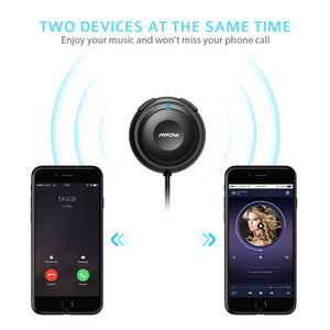 Image 4 - Mpow MBR2 Bluetooth Car Kit Hands Free Calling Streambot Audio Receiver Wireless Stereo Receiver With Car Charger Noise Isolator