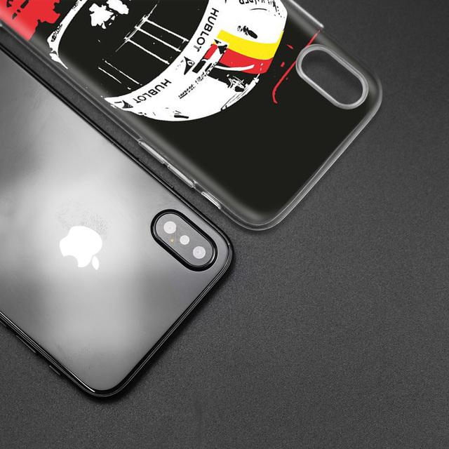 Case for iPhone 7 8 6 6s Plus 5 5S SE 5C X XS MAX XR Silicone Coque Cases Cover Sebastian Vettel
