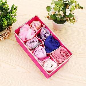 Image 4 - 6 24 Коробка Для Хранения нижнего белья, органайзер для носков, коробка для хранения бюстгальтеров для гостиной, спальни, складные Органайзеры