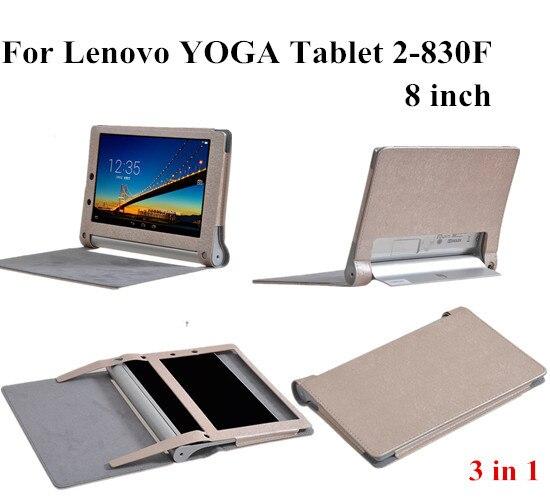 8 ''YOGA Tablet 2 830 Smart Cover Pour Lenovo Yoga Tablet 2-830F Aimant Couverture En Cuir Cas + protections d'écran + touch pen