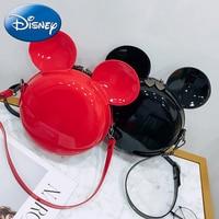 2019 New Disney Mickey Minnie Girls Backpack Children Travel Bag Cute Kids Backpacks Cartoon Pu skin Cartoon Kindergarten Bags