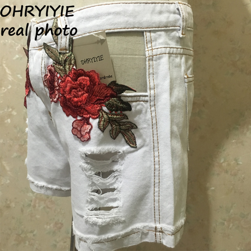 HTB1zLfyQVXXXXbkXVXXq6xXFXXXN - Sexy Hole High Waist Denim Shorts Flowers Embroidered PTC 156