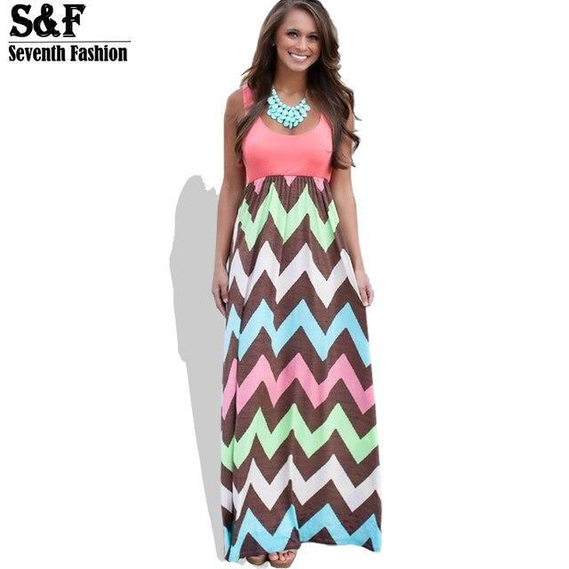 c8c9e8c9389d8 Hot 2016 High Quality Brand Women Summer Dress Striped Print Long Dress  Beach Boho Maxi Dress Feminine Plus Size Wholesale-in Dresses from Women's  ...