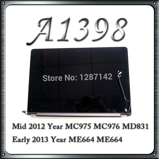 New Original For Apple Macbook Pro Retina 15'' A1398 MC975 MC976 Full LCD Display Screen Assembly 2012