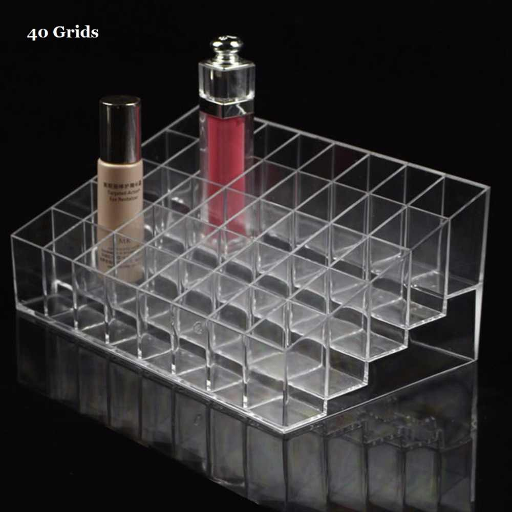 40/36/24 Grids Multifunctional Home Bedroom Lipstick Stand Case Cosmetic Makeup Tools Organizer Holder Plastic Box