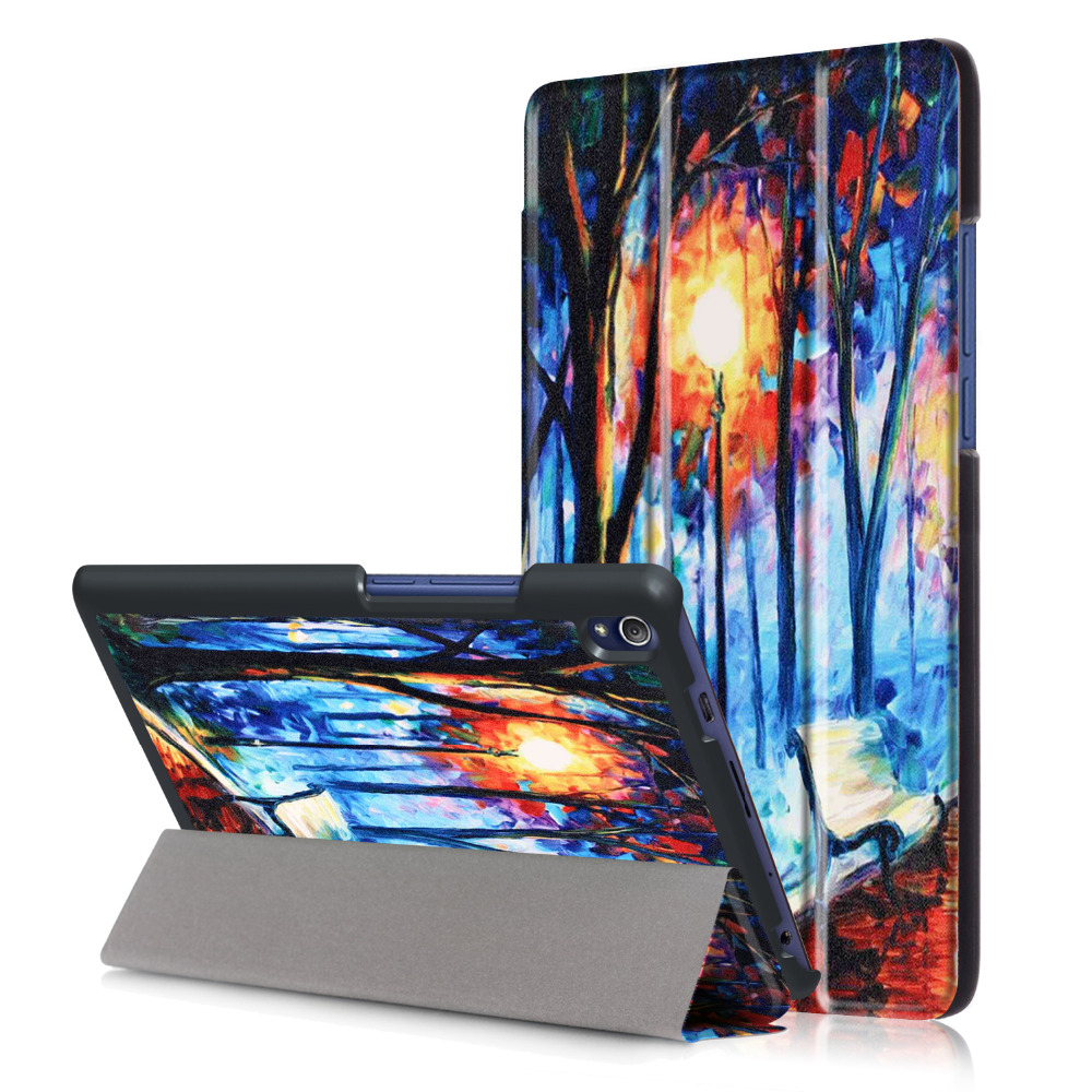 New Print PU Leather Case for Lenovo Tab 3 8 Plus 8inch Tablet Stand Protective Cover for Lenovo P8 TB-8703F (Tab3 8 Plus) luxury flip stand case for samsung galaxy tab 3 10 1 p5200 p5210 p5220 tablet 10 1 inch pu leather protective cover for tab3