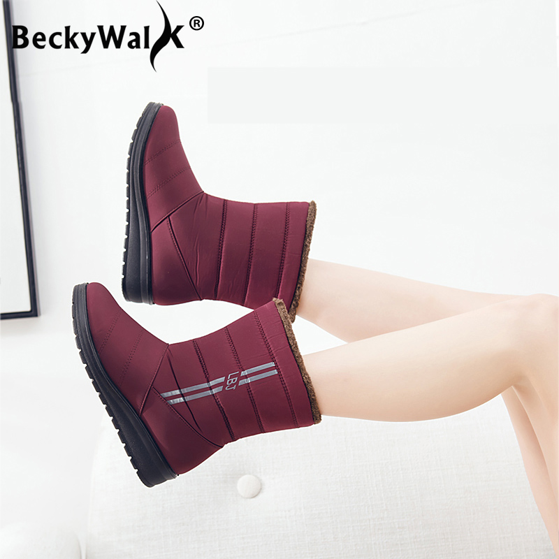 Mid-calf snow boots women winter boots mother shoes woman botas mujer waterproof female casual boots winter women shoes WSH3142 недорго, оригинальная цена
