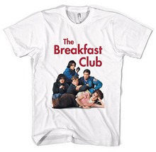 Funny Graphic Tees  O-Neck Slim Fi He Breakfast Club Style Men Short New Tee Shirt