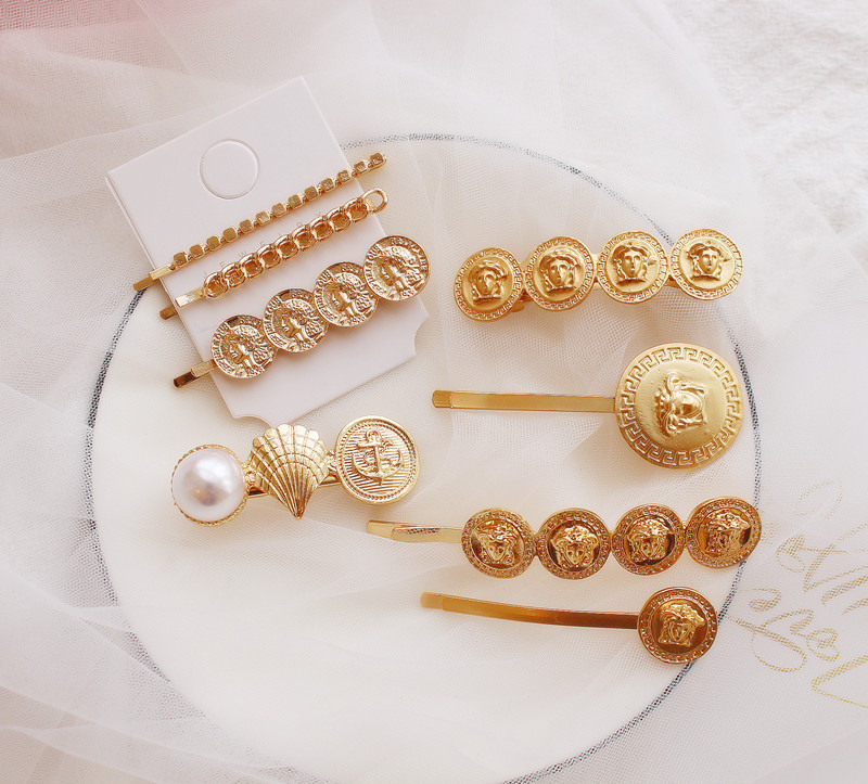 Europe Vintage Head Gold Color Leaf Hair Clips Hairgrips For Women Trendy Hair Accessories Starfish Barrettes Wholesale