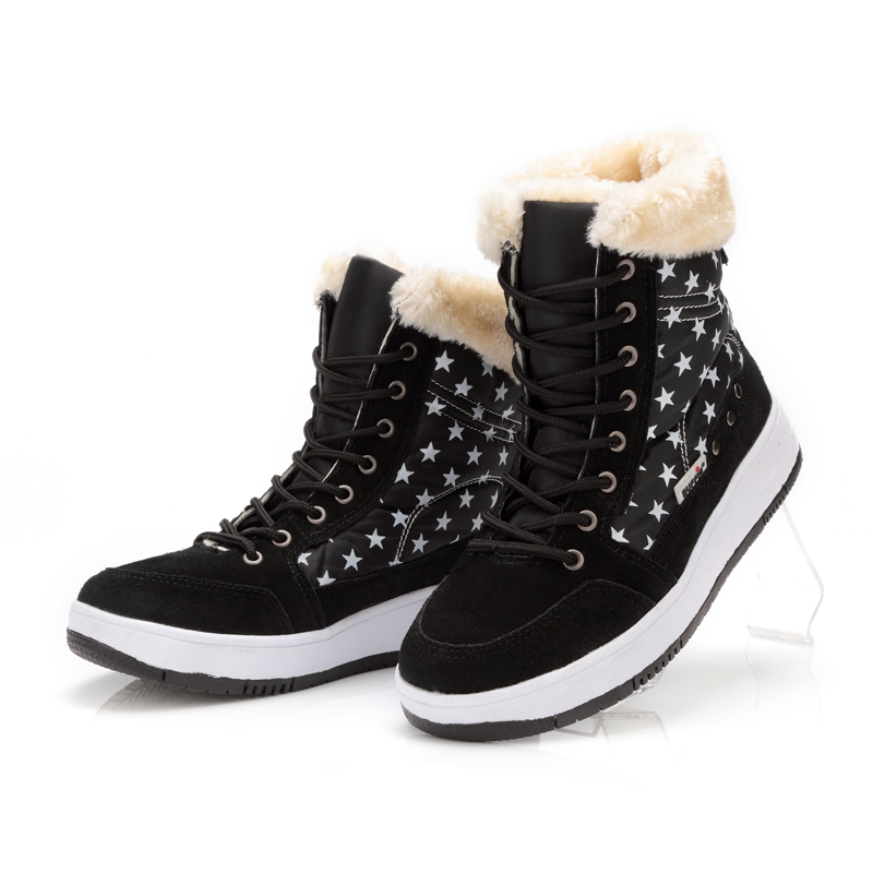 ФОТО Winter Shoes Women Brand Snow Boots Ankle Short Fur Boots Lace-up Warm Fur Fits Ture Normal Cow Suede Leather Boots Plus Size 41