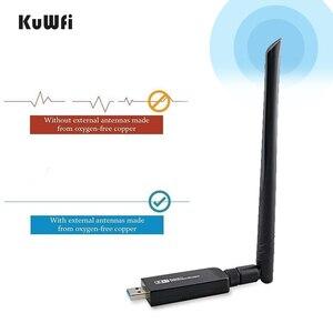 Image 2 - 1200Mbps USB3.0 Dual Band 802.11ac Draadloze Usb Netwerkkaart Wifi Lan Dongle Bluetooth Adapter Met 5 Dbi Antenne