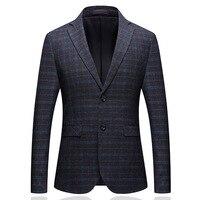 Autumn And Winter Man's Suit Self cultivation Korean Boutique Plaid Wedding Dress Suit Male Formal Business Casual Suits