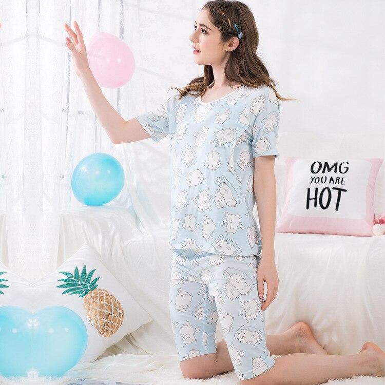 Modal 2 Pieces Maternity Clothes Maternity Sleepwear Breastfeeding Lounge Nursing Pajamas Pregnant Women Pajamas