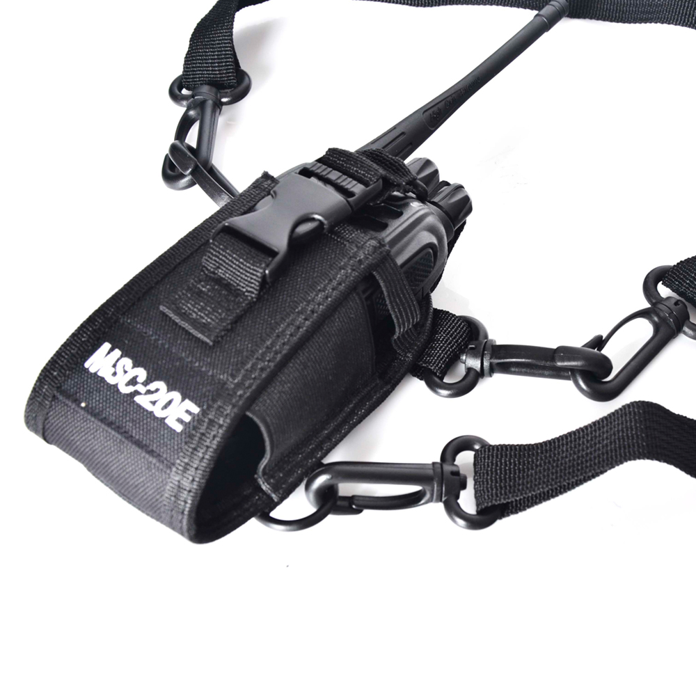 New MSC 20E Ham Radio Case Cover Handsfree Holder for Baofeng WLN GP340 GP328 GP68 GP88