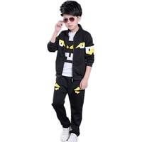 New 2019 Children Set Kids Clothes Spring Autumn Boy Clothing Set Monsters T Shirts+Pants+Coat 3 Piece Sports Suit For Girls