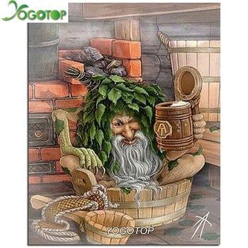 3d Elmas Boyama çapraz Dikiş Desen 5d Elmas Nakış Yaşlı Adam Mozaik