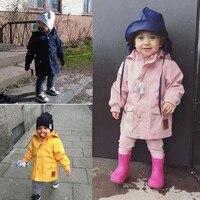 Moda hendek coats Kız Erkek Rahat Uzun Kollu Hoodie Sıcak tutmak için Kış Ceket Çocuk Çocuk Ceket Rüzgar Geçirmez rüzgarlıkları