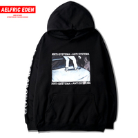 Aelfric Eden Personality Gothic Letter Skateboard Picture Print Men Pullover ANTI SYSTEMA Hoodie Male Fleece Warm Loose Hoodies