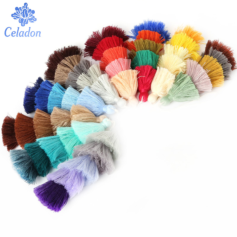 Hot Sale Five Color Poly Cotton Tassel Charms 15CM Fashion Jewelry Making Findings Curtain Clothes Bag Decoration Chain Hanging