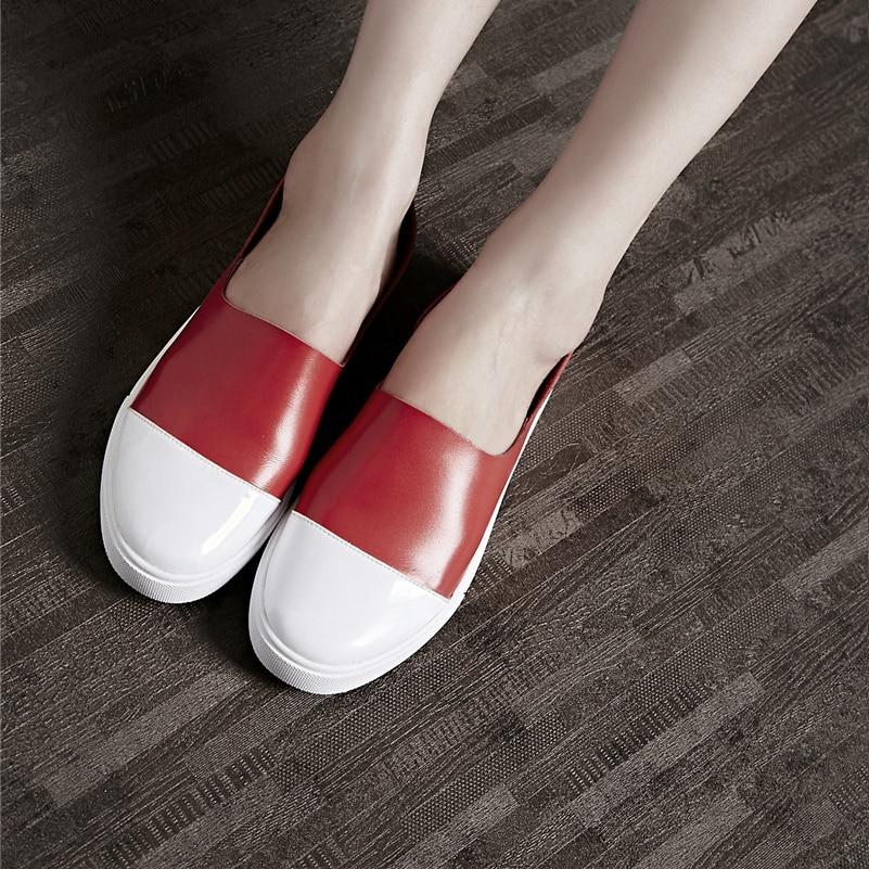 Nouveauté Sexy 5 Chaussures Véritable Mocassins Conasco Patchwork 1 Femme Été Pour Femmes Plates 2 Cuir En 4 Plats Talons Décontractée Printemps Loafter 3 RAq3j54L
