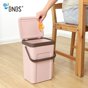 Image 4 - BNBS ถังขยะห้องครัวติดผนังถังขยะของขวัญถุงขยะ Zero ขยะรีไซเคิล Compost Bin ถังขยะห้องน้ำ Dustbin