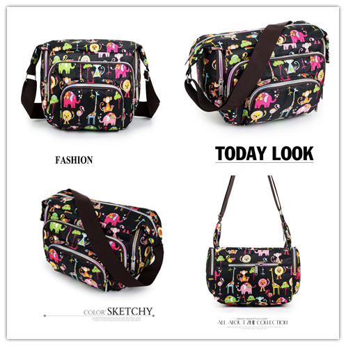 Women Messenger Bags Print Floral Cross Body Shoulder Canvas Hobo Bag Nylon Oxford Fabric Women's Handbag 2