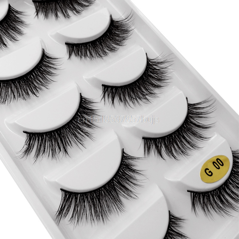 HTB1zLhQXULrK1Rjy1zbq6AenFXaZ New 3D 5 Pairs Mink Eyelashes extension make up natural Long false eyelashes fake eye Lashes mink Makeup wholesale Lashes