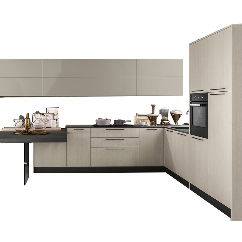 US $1699.0 |Lacquer High Gloss Melamine Luxury Simple design Wooden Kitchen  Cabinet With Bar Stand-in Kitchen Cabinets from Home Improvement on ...