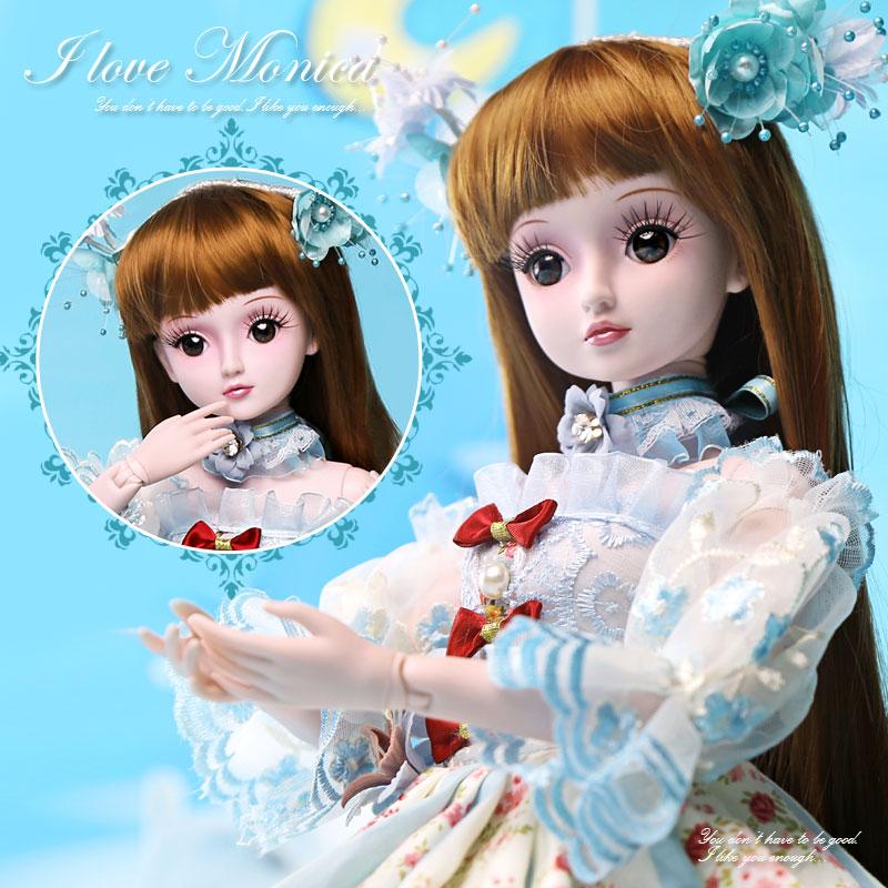 Здесь продается  BARBIE 1/3 BJD SD dolls 19 Joints Dolls 60CM Monika reborn baby girls High Quality toys Birthday Children Gifts Evening Dress  Игрушки и Хобби