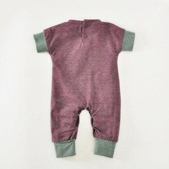 Newborn Kids Jumpsuits Summer Cartoon Skull Boys Girls Romper For Infant Soft Cute 2018 New Short Sleeve Infant Baby Boy Rompers 1