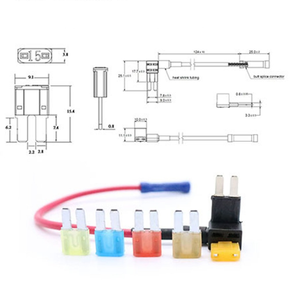 Thermoplastic PC Housing Pack Micro2 Blade Type Fuses High Temperature Tolerance