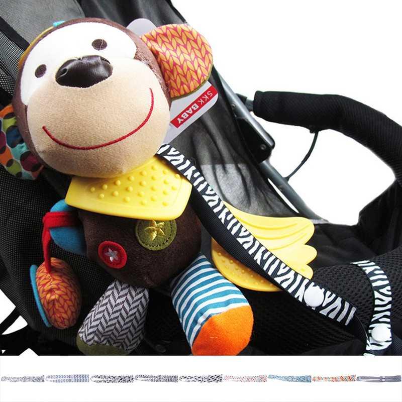 Cochecito de bebé juguetes fijos cuerda sin gota botella soporte correa para silla asiento de coche