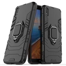 Conelz for Xiaomi Redmi 7A Case,[ Hybrid Rugged Heavy Duty Armor Hard Back Cover with 360 Degree Rotatory Ring Stand
