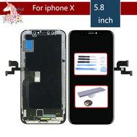 Оригинальный ЖК дисплей выполните для iphone X дисплей сенсорный экран планшета замена Полное собрание для iphone X 10
